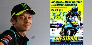 MotoGP, 2021, Misano 2: Cartaz de homenagem a Valentino Rossi thumbnail